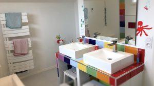 La Bonne Maison - Salle de bain colorée enfants