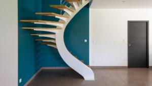 Escalier bois métal réalisé par un artisan ébéniste